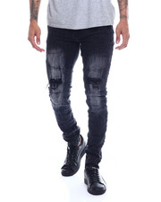 Buyers Picks - Distressed Knee Moto  Stretch Jean-2327071