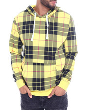 Men - yellow scottish plaid hoody-2327336