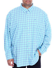 Izod - L/S Button Down Small Plaid (B&T)-2323252