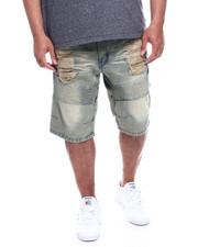 Big & Tall - Men's Washed Moto Rigid Denim Shorts (B&T)-2327550