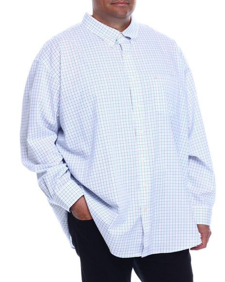 Izod - L/S Button Down Tattersa (B&T)
