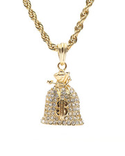Men - Money Bag Chain Necklace-2326717