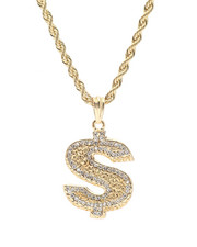 Men - Dollar Sign Chain Necklace-2326713