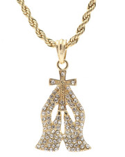 Buyers Picks - Praying Hands Chain Necklace-2326708