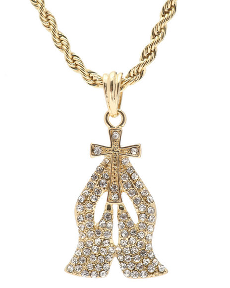 Buyers Picks - Praying Hands Chain Necklace