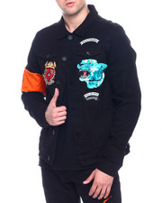 Denim Jackets - PANTHERS DENIM JACKET-2328238