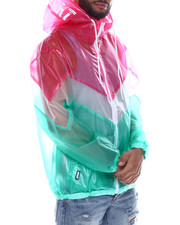 Outerwear - CHEVRON TRANSPARENT WINDBREAKER-2328202