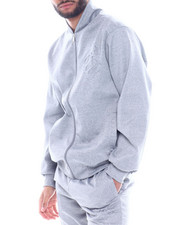 Outerwear - EMBOSSED FLEECE JACKET-2329498