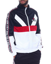 Track Jackets - Color Block Track Jacket w Tape Detail-2328173