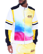 Track Jackets - SPRAY EFFECT TRACK JACKET-2328276