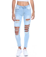 Jeans - Mid Waist Ripped Skinny Jean-2330027
