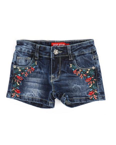 La Galleria - Embroidered Shorts (2T-4T)
