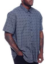 Big & Tall - S/S Button Woven Shirt (B&T)-2329170
