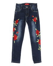 Bottoms - Stretch Embroidered Jeans (7-14)-2326942