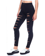 Jeans - Multi Ripped High Waist Skinny Jean-2329924