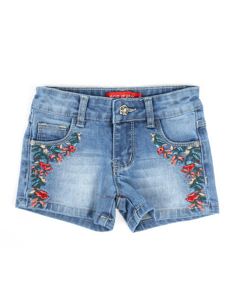 La Galleria - Embroidered Shorts (2T-4T)