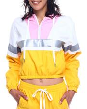 Women - Colorblock Half Zip Windbreaker JackeT-2327826