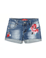 Bottoms - Embroidered Shorts (7-14)-2327008