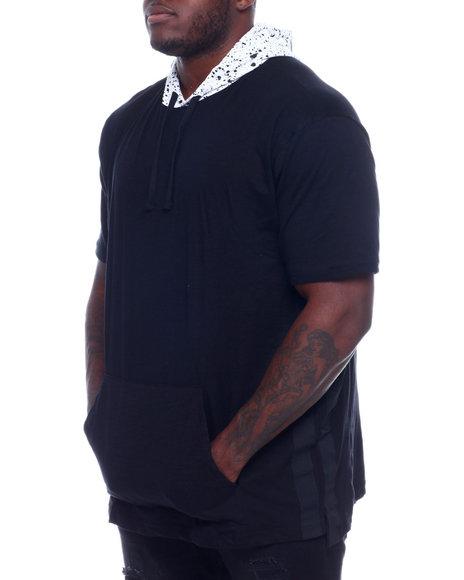 NOTHIN' BUT NET - S/S Slub Cotton Hoodie W/ Printed Fun Hood (B&T)