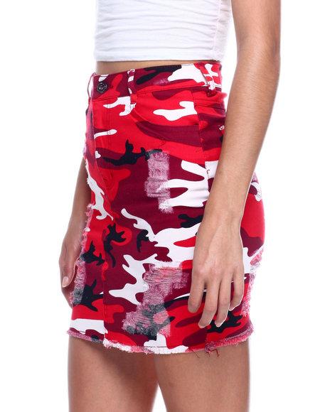 Fashion Lab - Heavy Ripped Denim Skirt