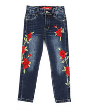 Jeans - Stretch Embroidered Jeans (4-6X)-2326937