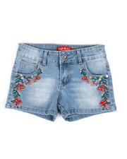 Bottoms - Embroidered Shorts (7-14)-2326984