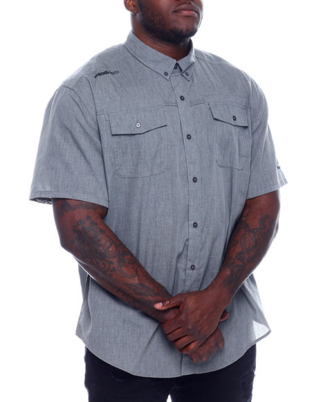 Ecko - S/S Banded Chambray Woven Shirt (B&T)