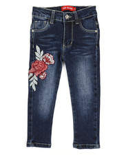 Jeans - Stretch Embroidered Jeans (2T-4T)-2326948