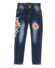 Bottoms - Stretch Embroidered Jeans (7-14)-2326952