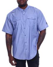 Big & Tall - S/S Banded Chambray Woven Shirt (B&T)-2329825