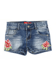 Bottoms - Embroidered Shorts (7-14)-2326958