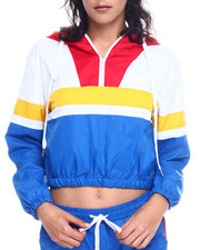 Outerwear - Colorblock Half Zip Windbreaker Jacket-2327822