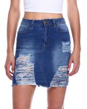Fashion Lab - Heavy Ripped Denim Skirt-2327846