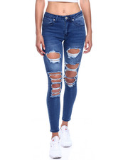 Fashion Lab - Mid Waist Ripped Skinny Jean-2330035