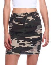Fashion Lab - Heavy Ripped Denim Skirt-2327842