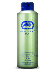 DRJ Fragrance Shop - Marc Ecko Blue 6.0 Fl Oz Body Spray-2326668