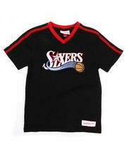 NBA MLB NFL Gear - Overtime Win V-Neck 76ers T-Shirt (8-20)-2326883