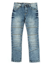 Bottoms - Cut & Sew Moto Denim Jeans (8-20)-2326909