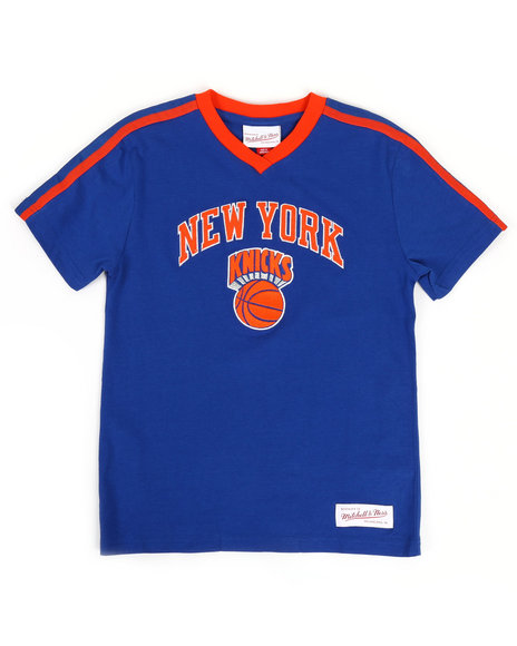 Mitchell & Ness - Overtime Win V-Neck NY Knicks T-Shirt (8-20)