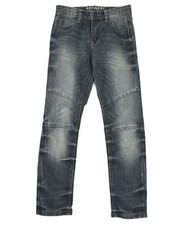 Bottoms - Cut & Sew Moto Denim Jeans (8-20)-2326916