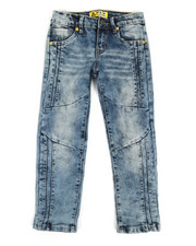 Arcade Styles - Ribbed Moto Stretch Jeans (4-7)-2326923