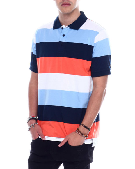 Basic Essentials - S/S Mens Stripe Jersey Polo