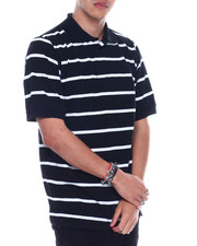 Basic Essentials - S/S Mens Stripe Pique Polo-2329208
