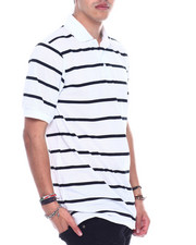 Basic Essentials - S/S Mens Stripe Pique Polo-2329244