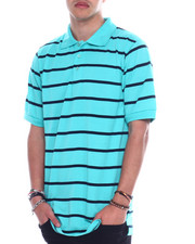 Basic Essentials - S/S Mens Stripe Pique Polo-2329233