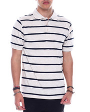 Basic Essentials - S/S Mens Stripe Pique Polo-2329219