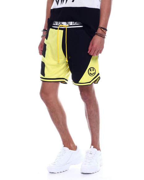 BWOOD - Colorblock Happy Face Basketball Short