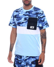 Copper Rivet - Camo Colorblock Pocket Tee-2331380