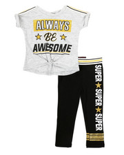 Girls - 2 Piece Twisted Top & Legging Set (2T-4T)-2327035