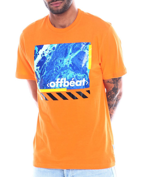 offbeat - GRAPHIC MOON AND BARSTRIPE TEE